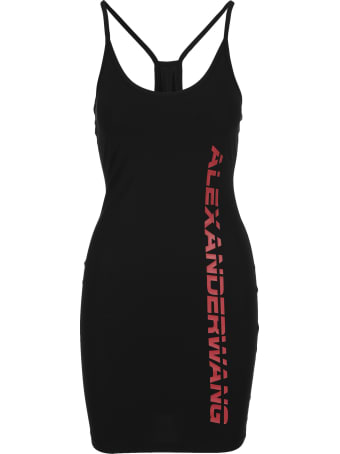T by Alexander Wang Logo Print Dress