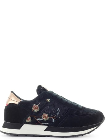 Sun 68 Sun68 Kate Velvet Flower Black Sneaker