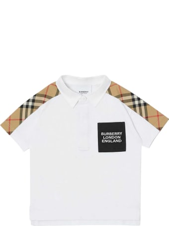 Burberry White Polo Shirt