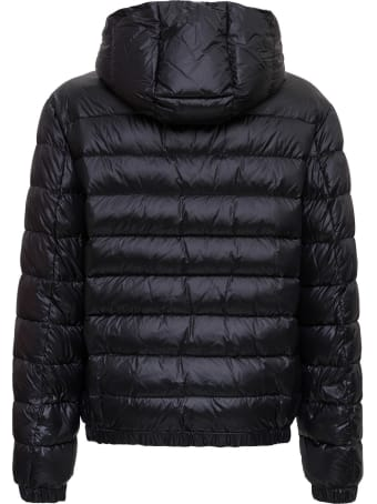 Dolce & Gabbana Hooded Down Jacket With Logo Patch