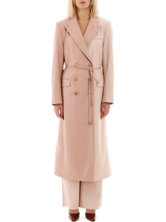 Nanushka Bicolor Faux Leather Manila Coat