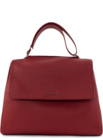 Orciani Red Leather Sveva Bag