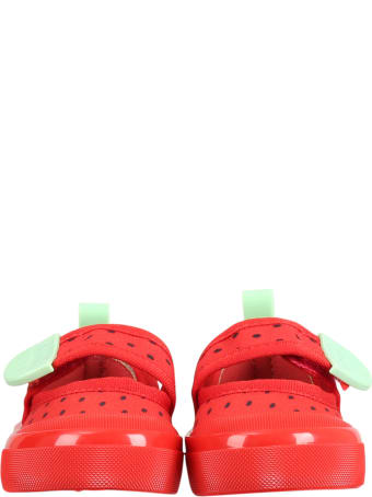 Melissa Red Shoes For Girl With Seeds