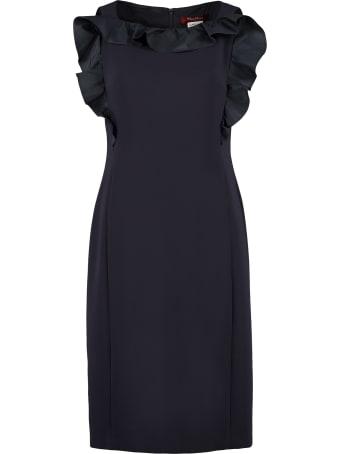 Max Mara Studio Lastra Ruffled Sheath Dress