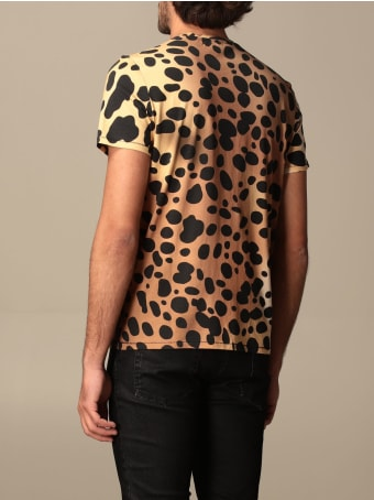 Just Cavalli T-shirt Just Cavalli T-shirt In Animalier Cotton With Logo