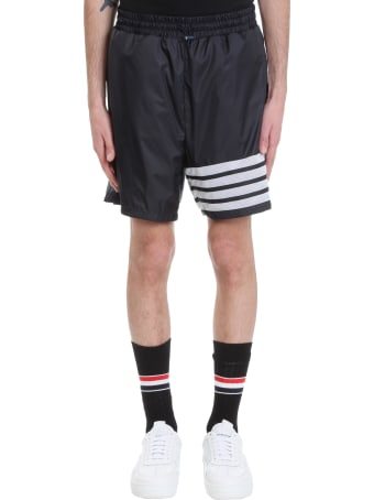 Thom Browne Shorts In Blue Nylon