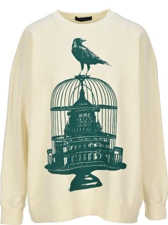 Undercover Jun Takahashi Undercover Birdcage Print Fleece