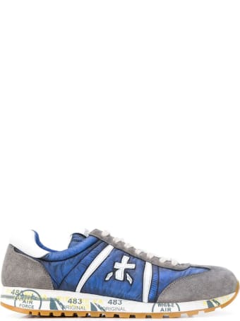 Premiata Grey And Blue Lucy Sneaker