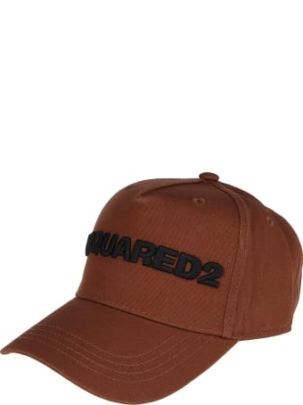 Dsquared2 Brown Cotton Baseball Cap