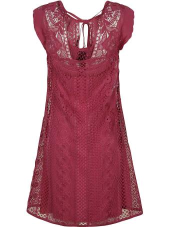 Alberta Ferretti Sleeveless Perforated Dress