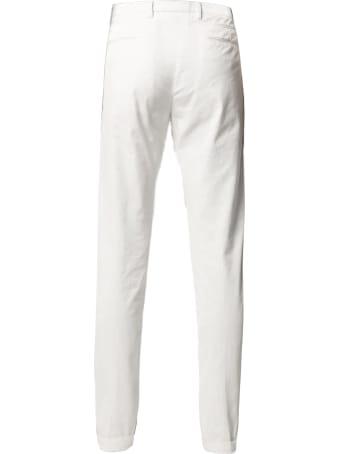 Briglia 1949 Cream Stretch Cotton Chino Trousers