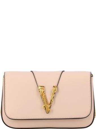 Versace Mini Bag Virtus Versace Leather Bag With Monogram