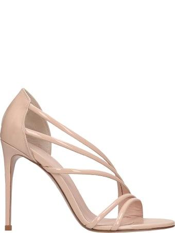 Le Silla Sandals In Powder Patent Leather