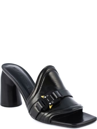 1017 ALYX 9SM Black Leather Mules