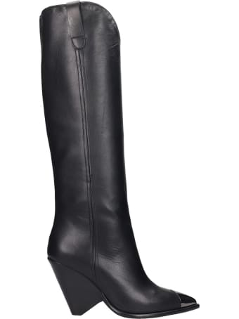 The Seller High Heels Boots In Black Leather