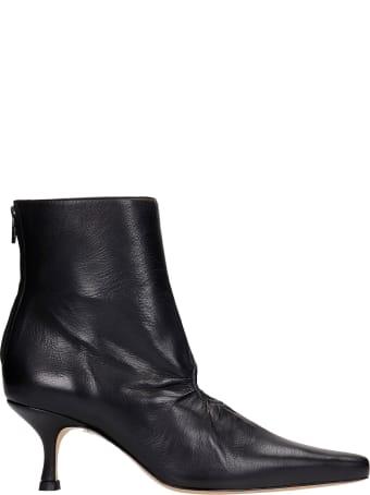 Kalda Luna High Heels Ankle Boots In Black Leather