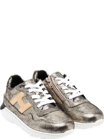 Hogan Gold Sneakers