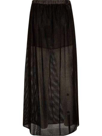 Emporio Armani Perforated Ribbed Skirt