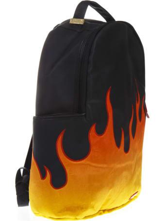 Sprayground Cream Black Nylon Backpack
