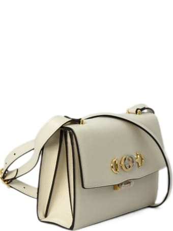 Gucci Gucci Zumi White Leather Shoulder Bag