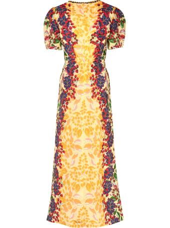 Saloni Lea Printed Silk Dress