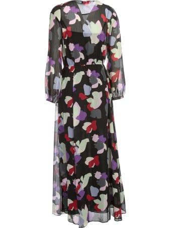 Emporio Armani Long Dress L/s Slits On Waist Fantasy