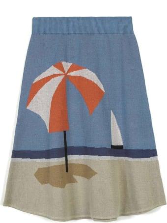 Wolf & Rita Light Blue Skirt For Girl