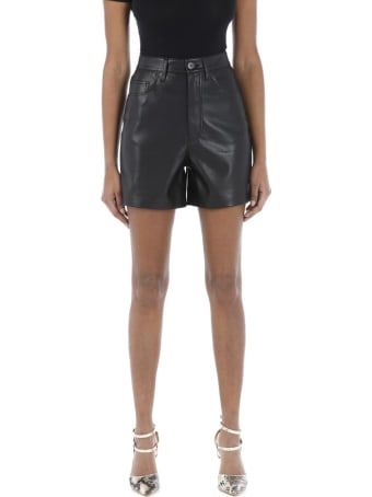 Nanushka Vegan Leather Shorts Leana