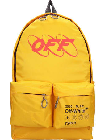 Off-White Industrial Y013 Backpack In Yellow Canvas