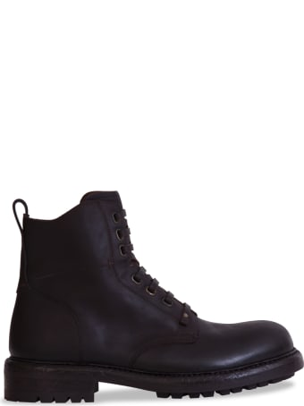 Dolce & Gabbana Cowhide Lace-up Ankle Boots