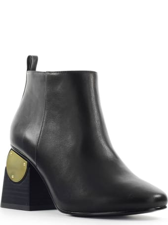Kat Maconie Black Leather Solange Ankle Boot