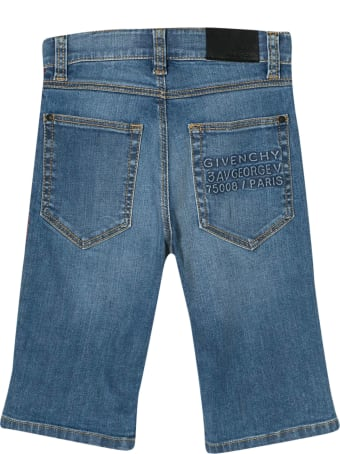 Givenchy Kids Side Band Denim Shorts