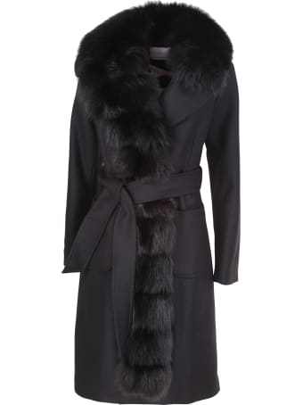 Violanti black cashmere coat