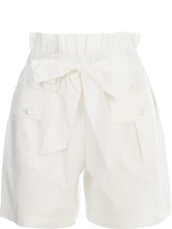 Emporio Armani Shorts W/knot On Waist And Side Pockets