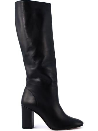 Aldo Castagna Black Leather Acqua Boots