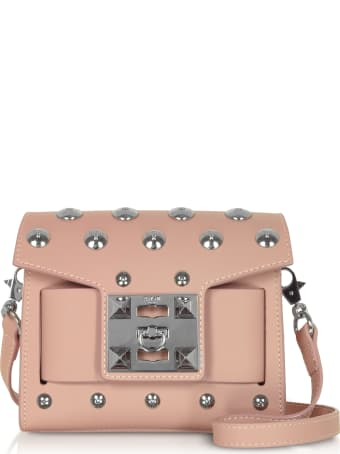 Salar Gaia Moon Studded Shoulder Bag