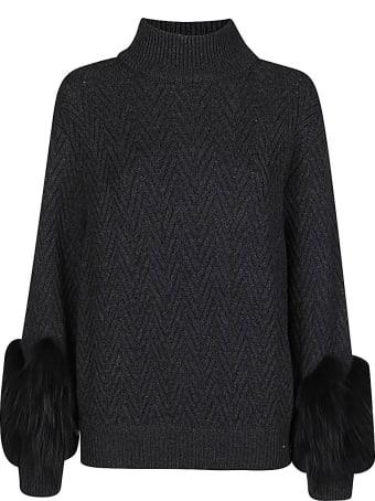 Agnona Dark Grey Cashmere Jumper