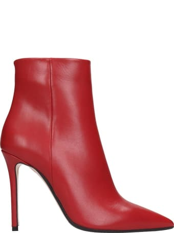 The Seller High Heels Ankle Boots In Red Leather