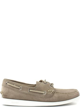 Church's Stone Suede Boat Shoes
