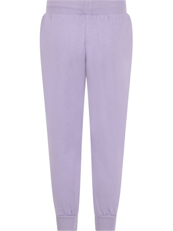 Mini Rodini Purple Sweatpants For Kids With Dog