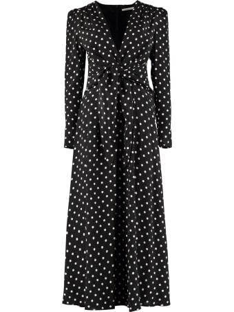 Alessandra Rich Polka Dot Print Long Dress