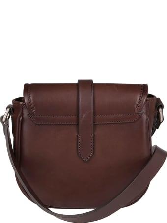 Golden Goose Dark Brown Leather Crossbody Bag