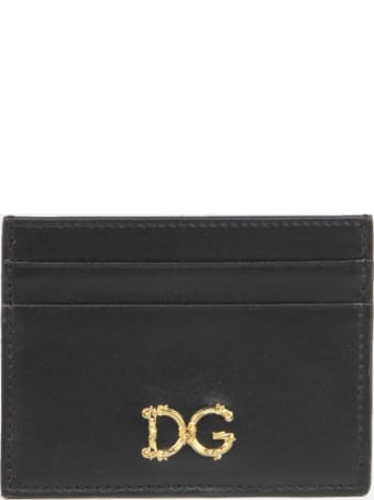 Dolce & Gabbana Leather Card Holder With Contrasting Logo