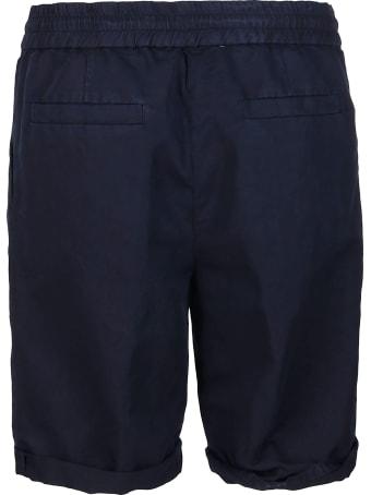 Brunello Cucinelli Blue Linen-cotton Blend Shorts