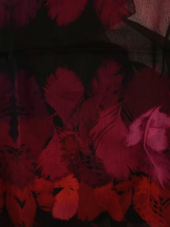 Alexander McQueen Feather Print Scarf