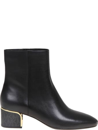 Michael Kors Ankle Boot In Black Leather