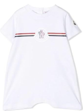 Moncler White Cotton Bodysuit