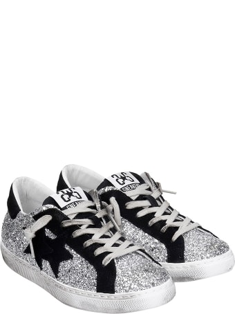 2Star Sneakers In Silver Glitter