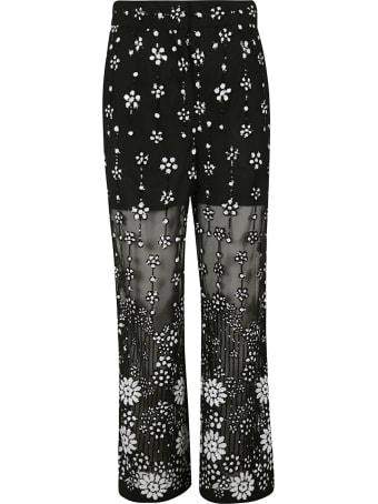 self-portrait Deco Sequin Trousers