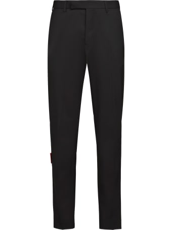 MSGM Virgin Wool Tailored Trousers
